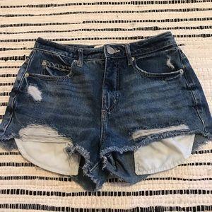 Garage Distressed Denim Shorts